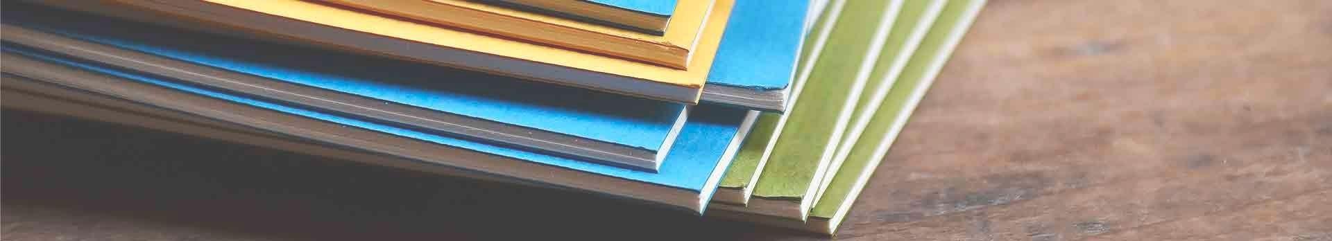 Carnets d'écriture et de dessin pour une papeterie quotidienne.